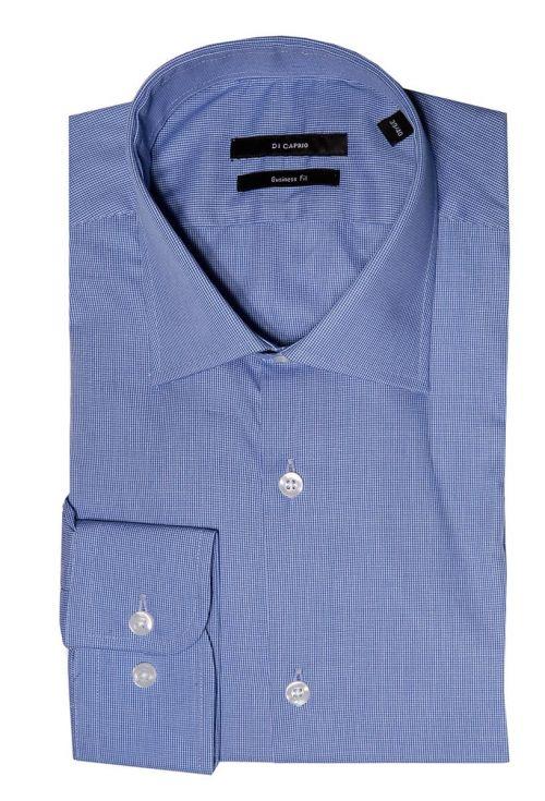 Di Caprio poslovna plava muška košulja s mikro dezenom | Regular fit