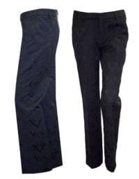 Di Caprio crne brokatne ženske hlače - širi fit | Varteks