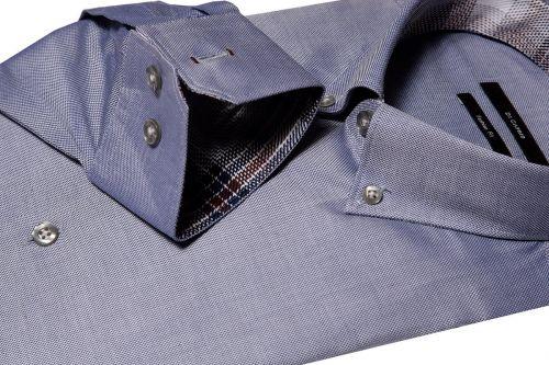 Di Caprio plava muška košulja s dugim rukavima | Slim fit