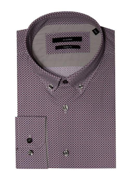 Di Caprio bordo muška košulja s mikro dezenom - dugi rukav | Slim fit