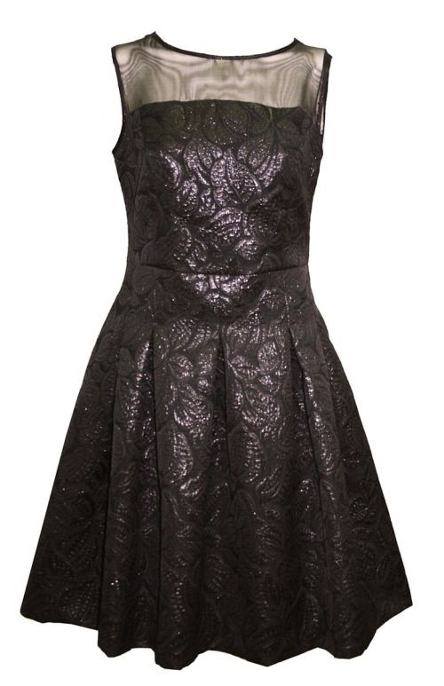Di Caprio svečana cvjetna crna haljina | Varteks