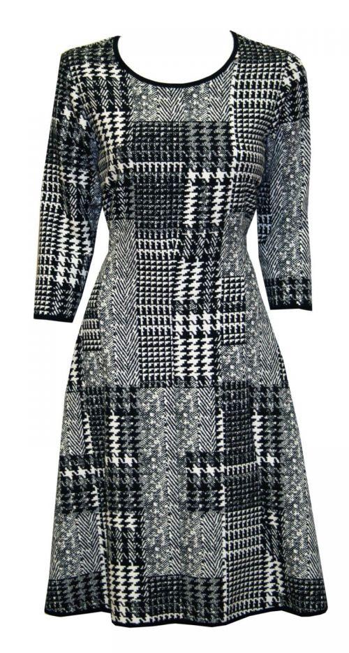Di Caprio crno-bijela haljina s rukavima | Varteks