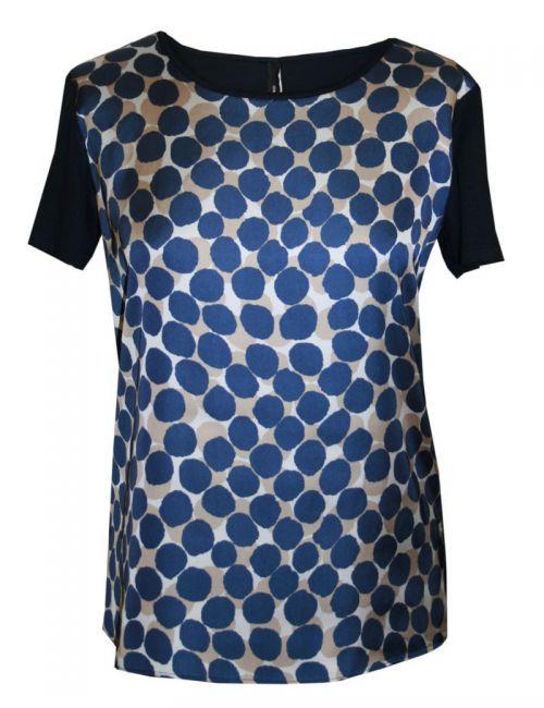 Di Caprio ženska majica s kratkim rukavima s plavim točkama | Varteks