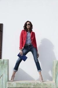 Di Caprio crveni sportski pamučni ženski sako od odijela | Varteks
