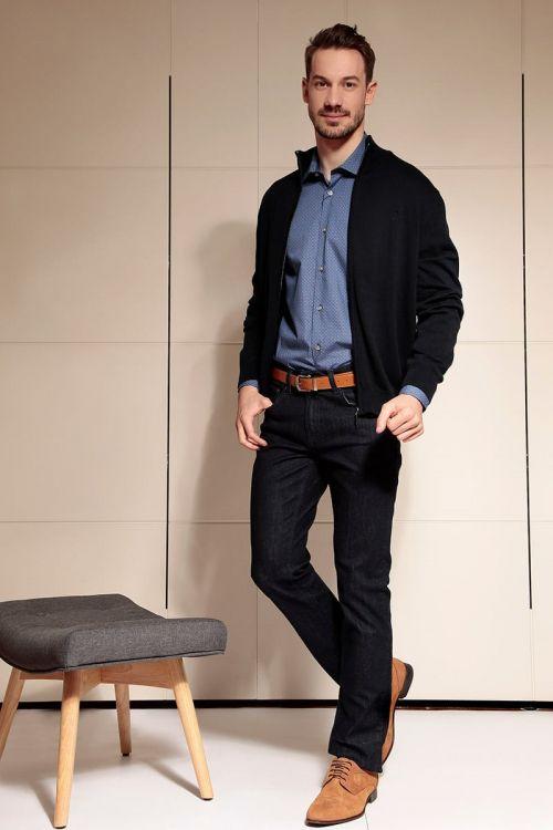 Di Caprio pletena pamučna muška vesta sa zatvaračem | Varteks