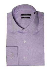 Di Caprio lila muška košulja od Royal Oxford pamuka | Slim fit