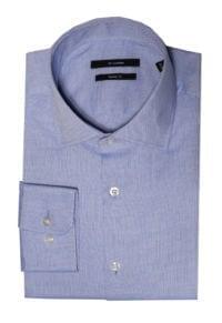 Di Caprio svjetlo plava muška košulja od Royal Oxford pamuka | Slim fit