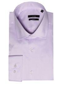 Di Caprio lila muška košulja s produženim rukavima | Slim fit