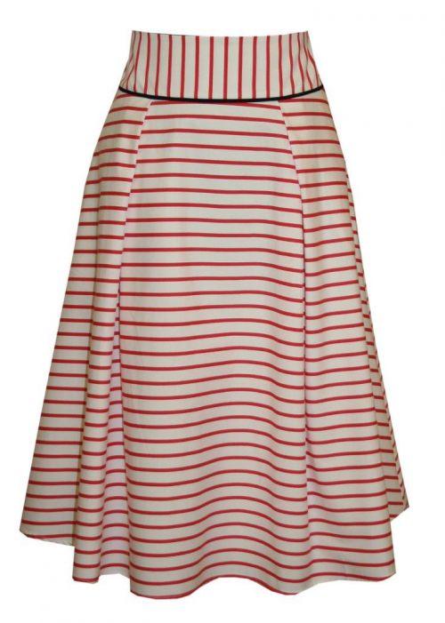 Di Caprio pamučna prugasta suknja | Varteks