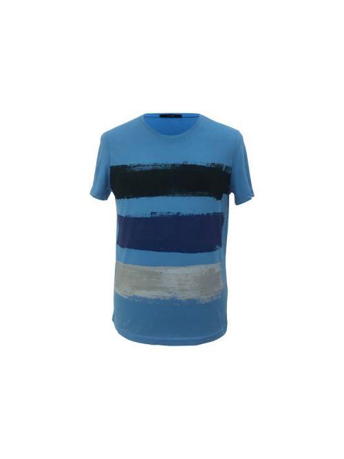 Di Caprio plava pamučna muška majica s prugama u boji