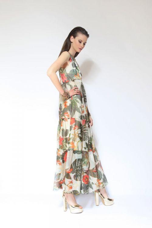 Di Caprio duga bež haljina s cvjetnim uzorkom | Varteks