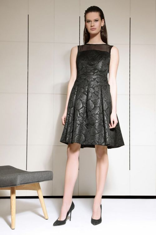 Svečana cvjetna crna haljina | Varteks
