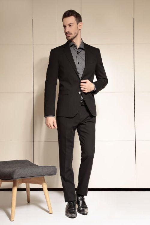 Di Caprio crno muško odijelo | Slim fit - Recovering efekt | Varteks