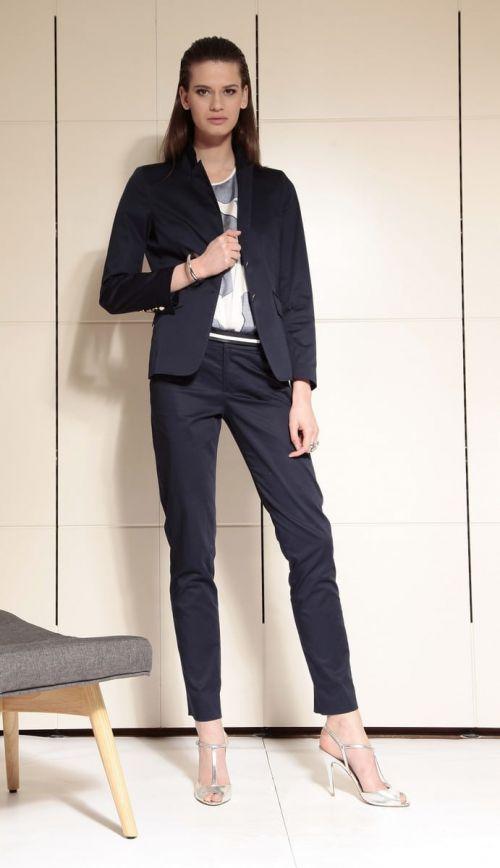 Di Caprio tamno plavi pamučni ženski sako od odijela | Varteks