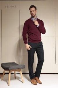 Di Caprio tamno plave muške hlače - elastični pamuk | Slim fit | Varteks