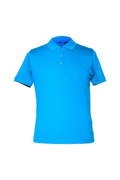 Di Caprio plava muška polo majica od 100% merceriziranog pamuka