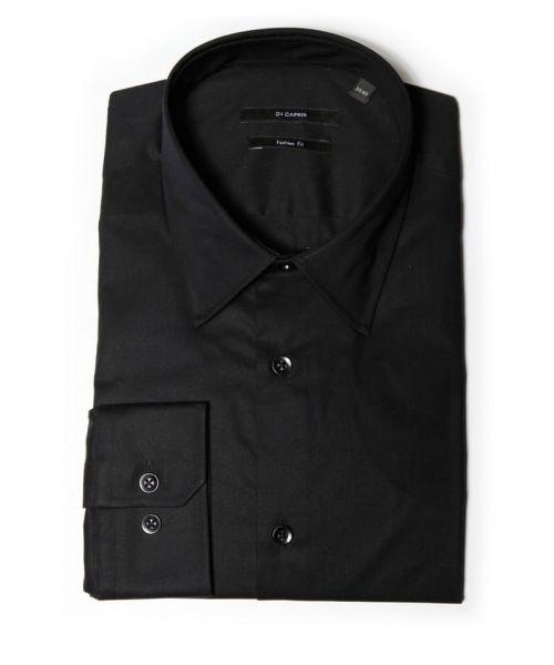 Di Caprio crna muška košulja s dugim rukavima | Slim fit