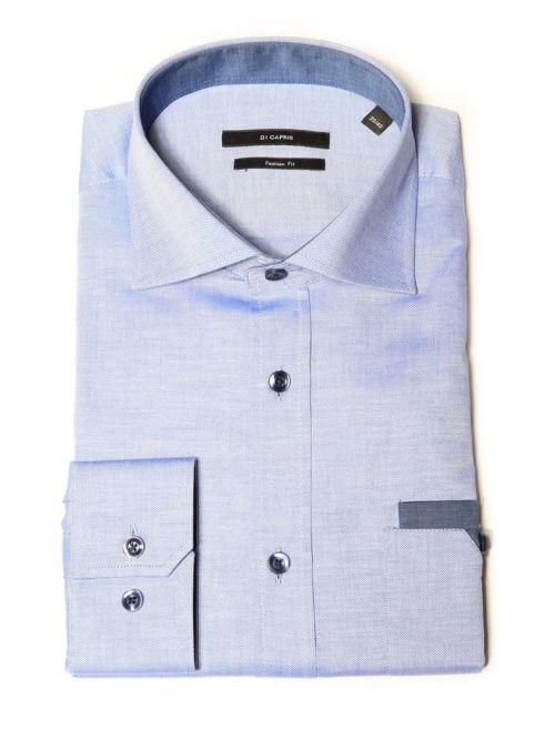 Di Caprio svijetlo plava muška košulja - dugi rukav | Slim fit s detaljima