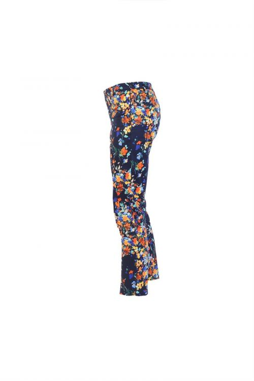 Di Caprio pamučne šarene 7/8 ženske hlače s elastanom | Varteks