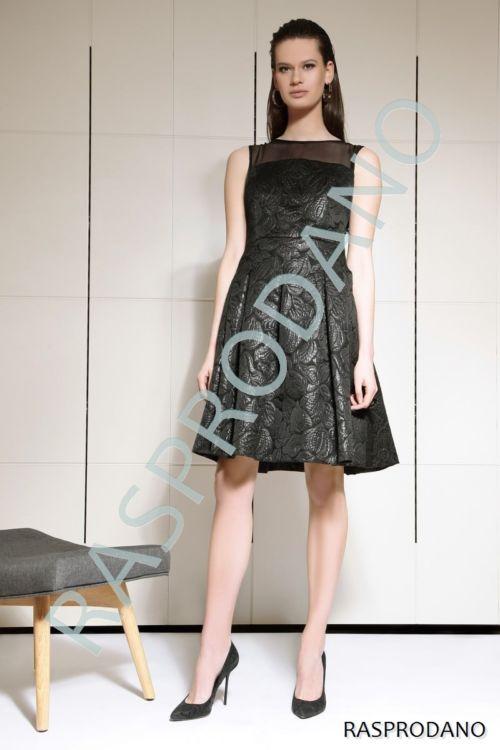 Svečana cvjetna crna haljina