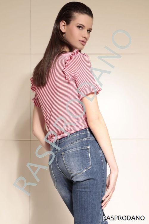 Straight jeans ženske hlače - ravni kroj