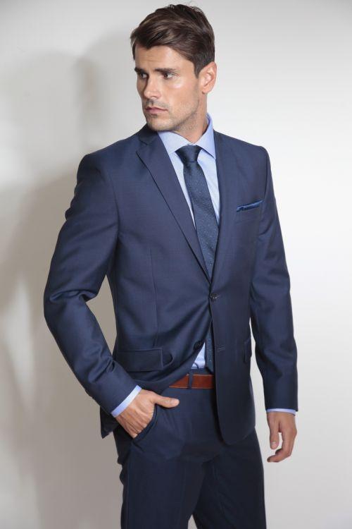 Muško odijelo otvoreno plave boje - Super 100`s - Slim fit