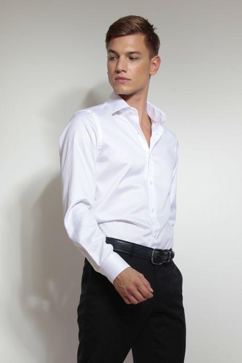 Slim fit muška košulja s dugim rukavima Twill100s
