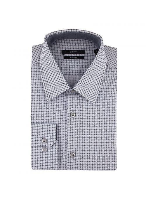 Muška bijelo-siva pamučna košulja s mikrodezenom