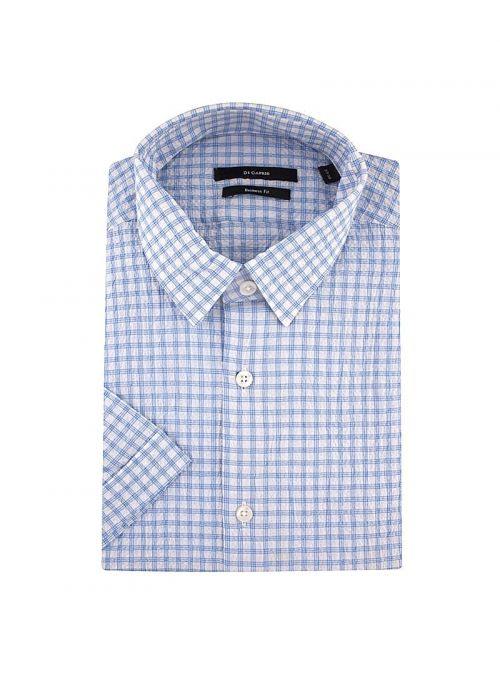 Bijelo-plava karirana muška košulja kratkih rukava