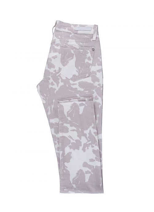 Ženske sive hlače s uzorkom