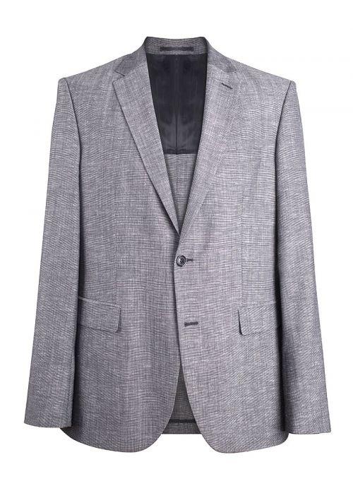 Sivi muški sako od vune i lana | Varteks