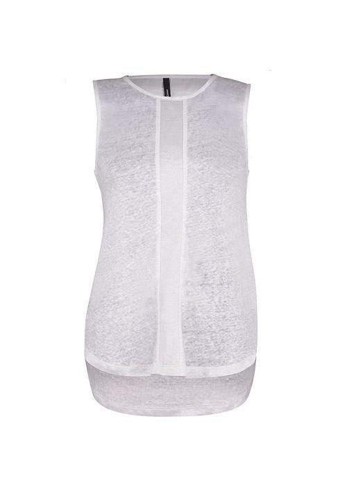 Lagana bijela lanena ženska bluza