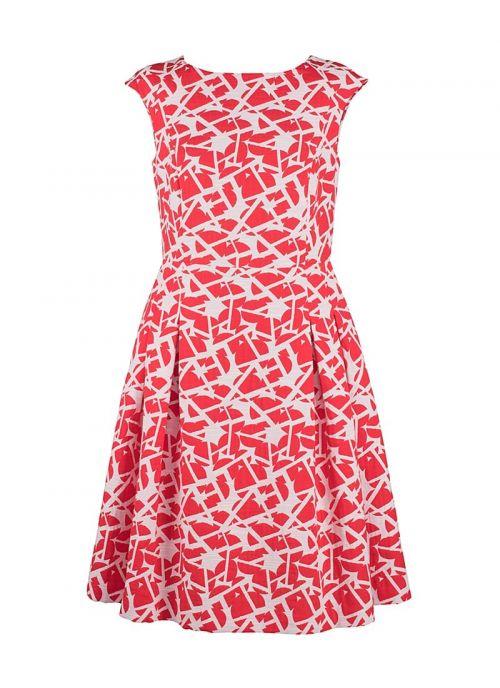 Crveno-bijelo haljina s uzorkom | Varteks