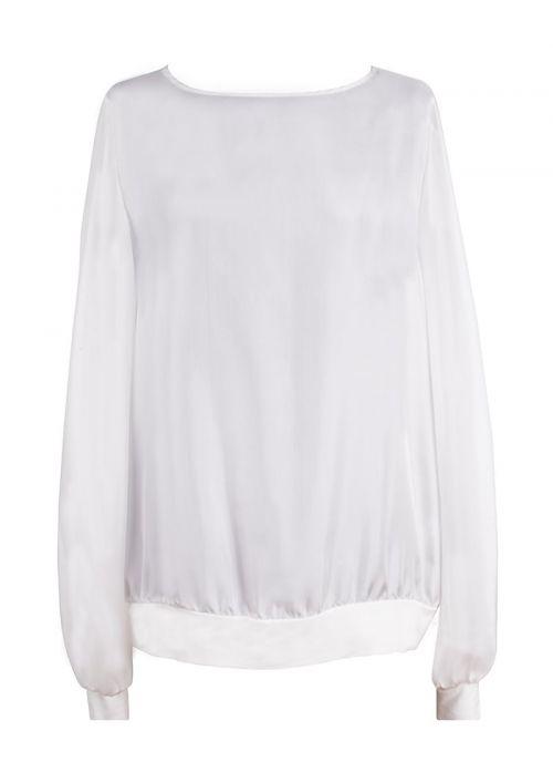 Svilena bijela ženska bluza | Varteks