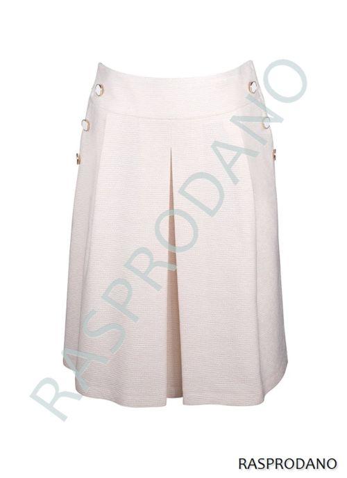 Bijela elegantna suknja