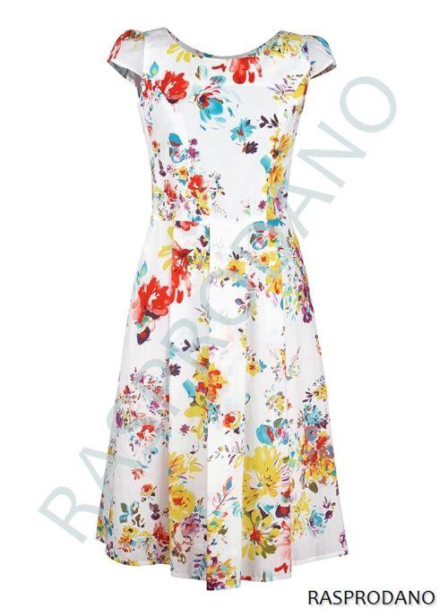 Bijela haljina cvjetnog uzorka
