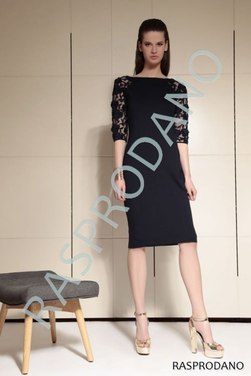 Crna haljina s čipkom