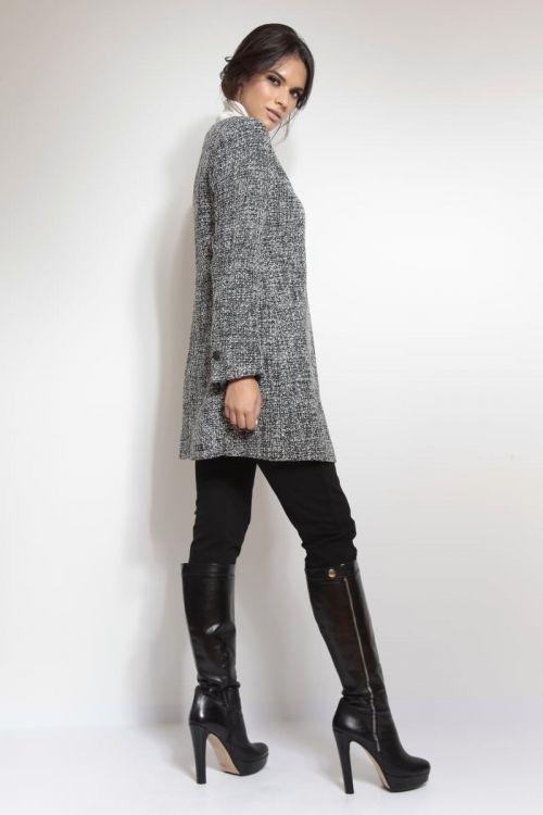 Crno-bijeli duži sako kaput