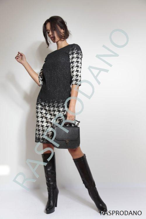 Crno-bijela haljina s atraktivnim printom