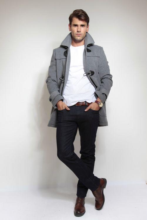 Sivi muški Montgomery kaput