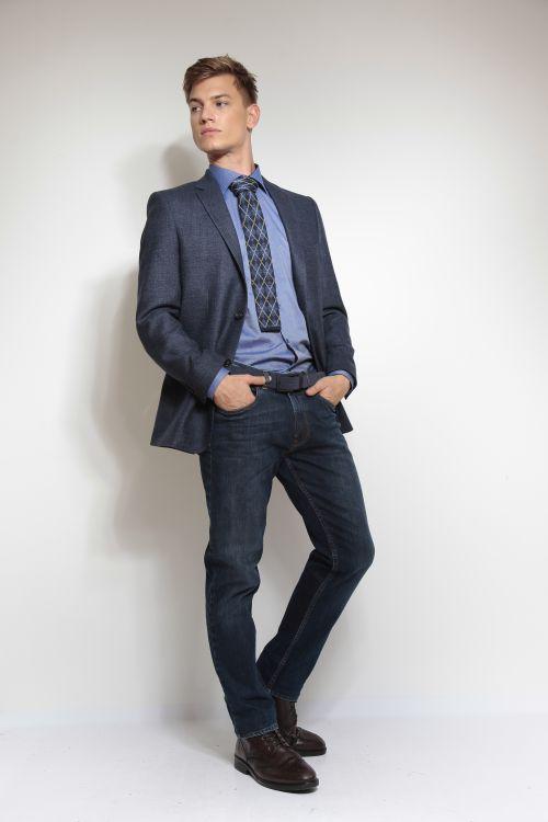 Ležeran plavi vuneni sako