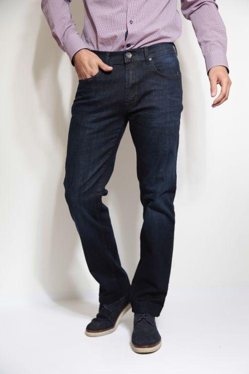 Muške traperice od tamno plavog jeansa - Straight leg
