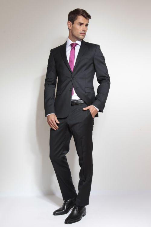 Muško odijelo sa sitnom strukturom - Slim fit