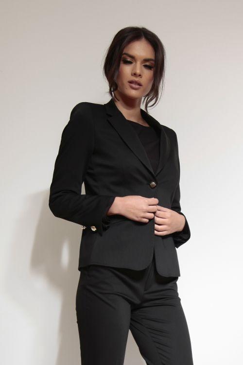 Ženski sako s dekorativnim gumbima
