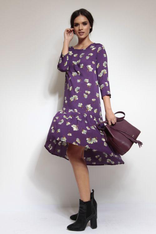 Viskozna haljina s volanom
