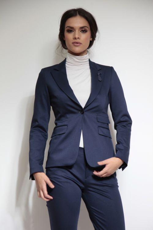 Plavi poslovni ženski sako