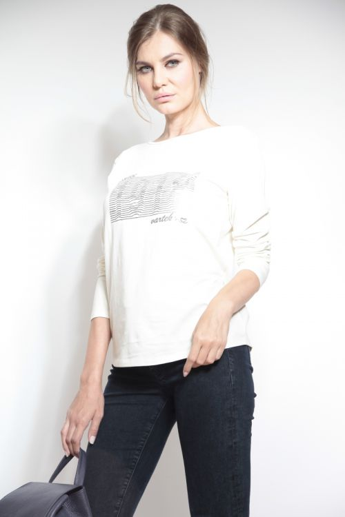 Majica s dugim rukavima i print detaljem