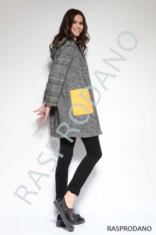 Moderan ženski kaput živih boja