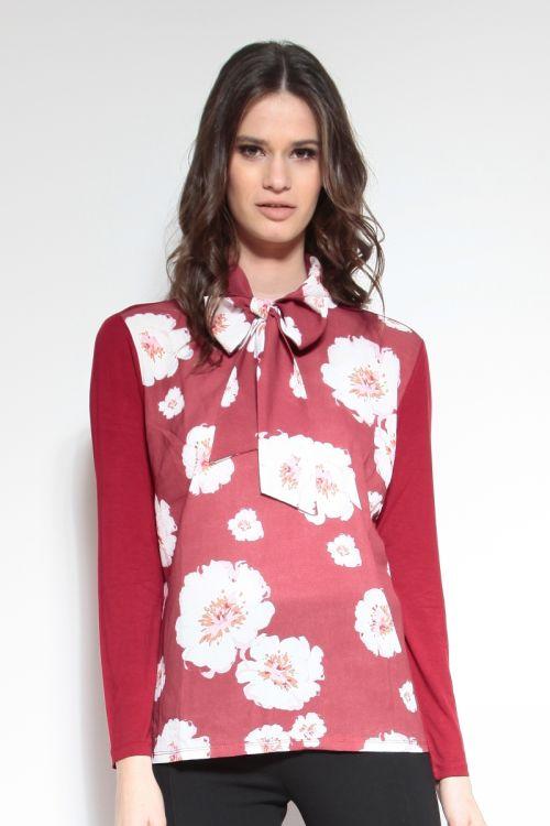 Moderna ženska majica s mašnom