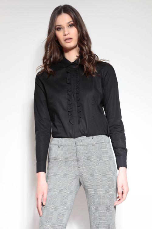 Ženska bluza s decentnim detaljem u dvije boje